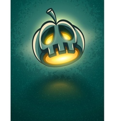 Terrible jack-o-lantern head vector