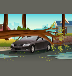 Tree on a damage care vector