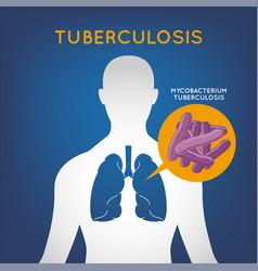 tuberculosis logo icon vector image