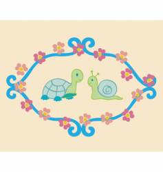 turtle and snail vector image