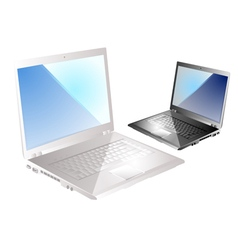 two laptop vector image