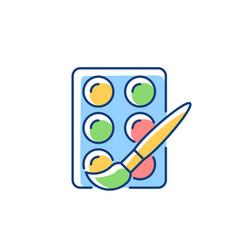 watercolors rgb color icon vector image