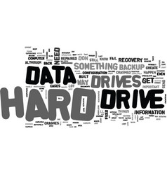 Where to go for data recovery text word cloud vector