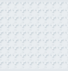 White embossed paper seamless pattern vector