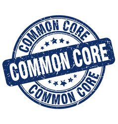 common core blue grunge stamp vector image