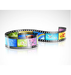 film strip with colorful images vector image