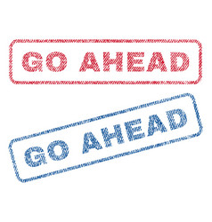 go ahead textile stamps vector image vector image
