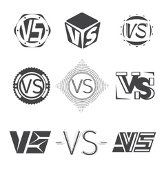 Versus letters logos Competition icons set vector image vector image