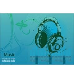 concert poster with headphones vector image vector image