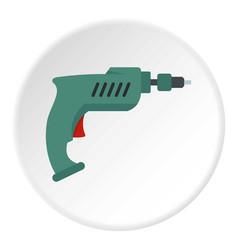 drill icon circle vector image vector image