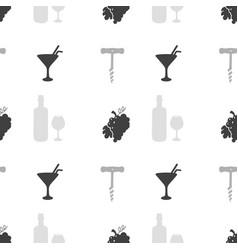 liquor store seamless pattern vector image