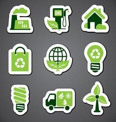 eco sticker label vector image vector image