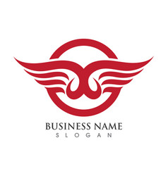 falcon wing logo template vector image