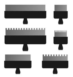Palette knife set vector image