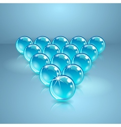 Pool or billiard balls made of glass vector image