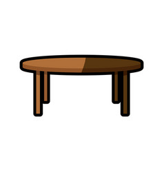 wooden table furniture decoration shadow vector image vector image