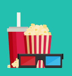 cinema design in flat style vector image
