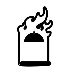 contour order fast food emblem image vector image