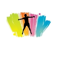 Men jumping vector image