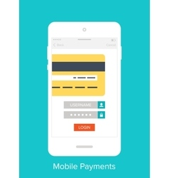 Mobile User Interface vector image vector image