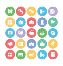 Multimedia Colored Icons 5 vector image