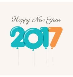 new year 2017 ballons vector image