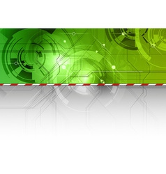 tech background in the green color vector image