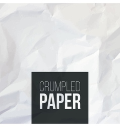 Texture of white crumpled paper background vector image vector image