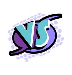 versus letters in cartoon style vector image