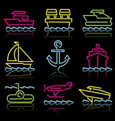 water transport vector image vector image