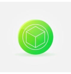 3D printer logo or icon vector image