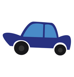 a blue car or color vector image