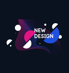 abstract background in a modern trendy style vector image