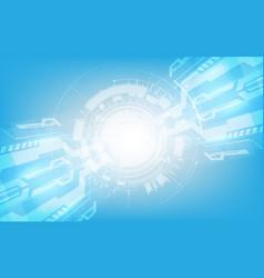 Abstract digital hi tech technology innovation vector