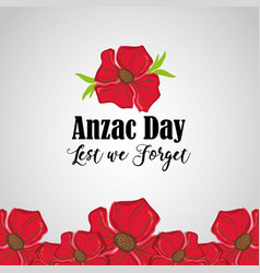 Anzac holiday to military remembrance war vector
