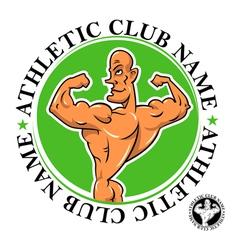 athletic club emblem vector image