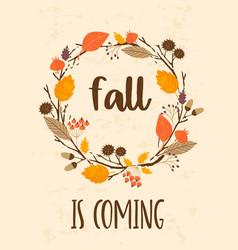Autumn templates design for card poster vector