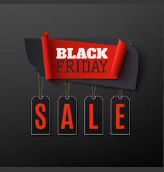 black friday sale abstract banner on black vector image