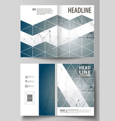 Business templates for bi fold brochure magazine vector
