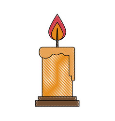 candle fire flame vector image