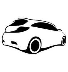 car silhouette modern vector image