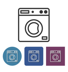 clothes washer line icon in different variants vector image