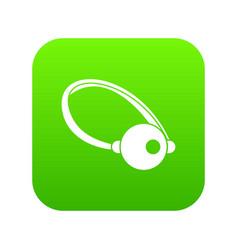 Clown nose icon digital green vector