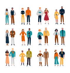 couples diverse people friends pairs vector image