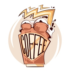 Crazy Coffee sticker vector