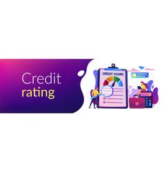 Credit rating concept banner header vector