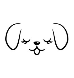 cute dog logo isolated on white vector image