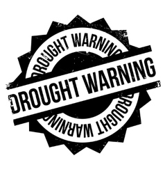 Drought Warning rubber stamp vector