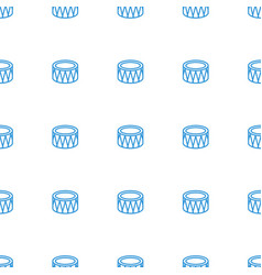 drum icon pattern seamless white background vector image