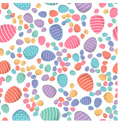 easter seamless pattern colored eggs vector image